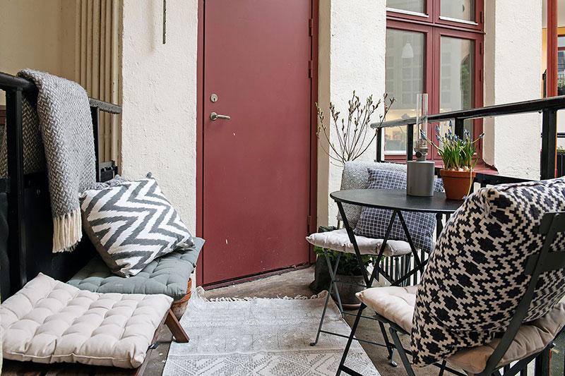 Жизнерадостный дизайн для скандинавской квартиры