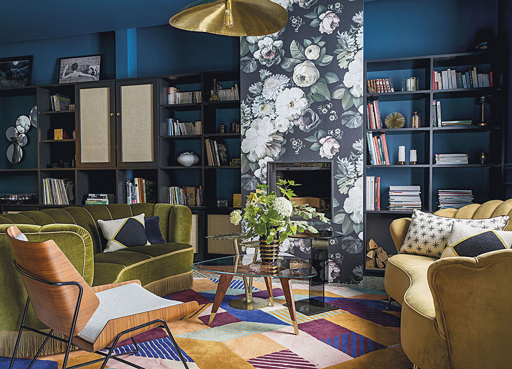 Атмосферные краски в дизайне особняка 19 века в Реймсе