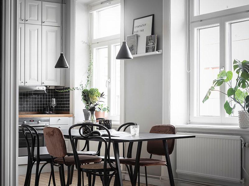 Шведская квартира с праздничной атмосферой круглый год (58 кв. м)