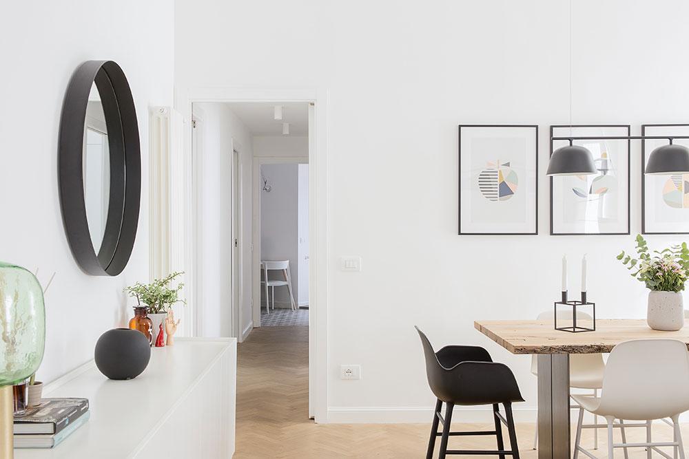 Современная белая квартира недалеко от Рима