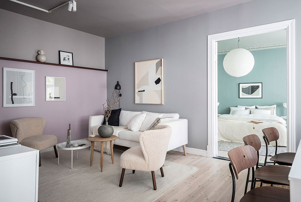 Пастельные стены и светлая мебель: воздушная квартира в Гётеборге