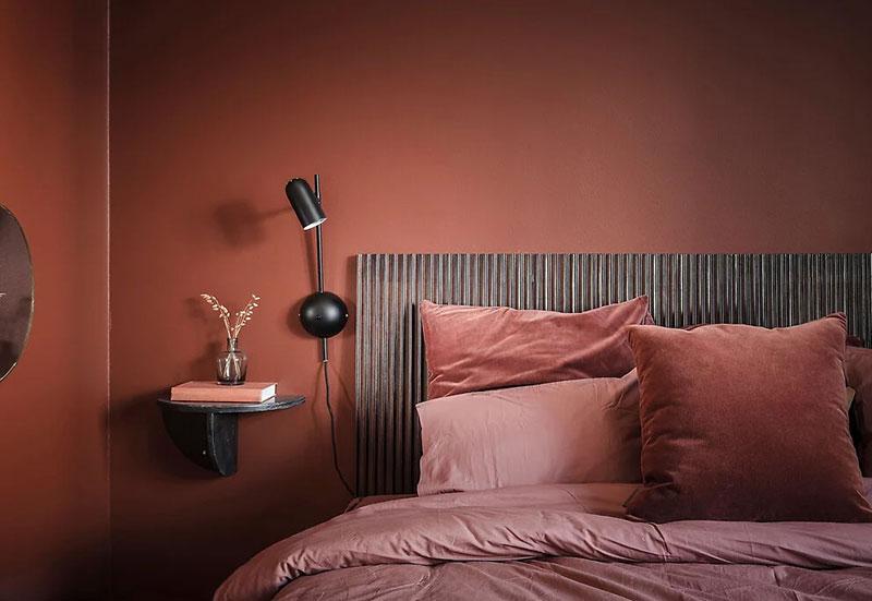 Цветное вдохновение: квартира в красивых терракотовых оттенках в Швеции