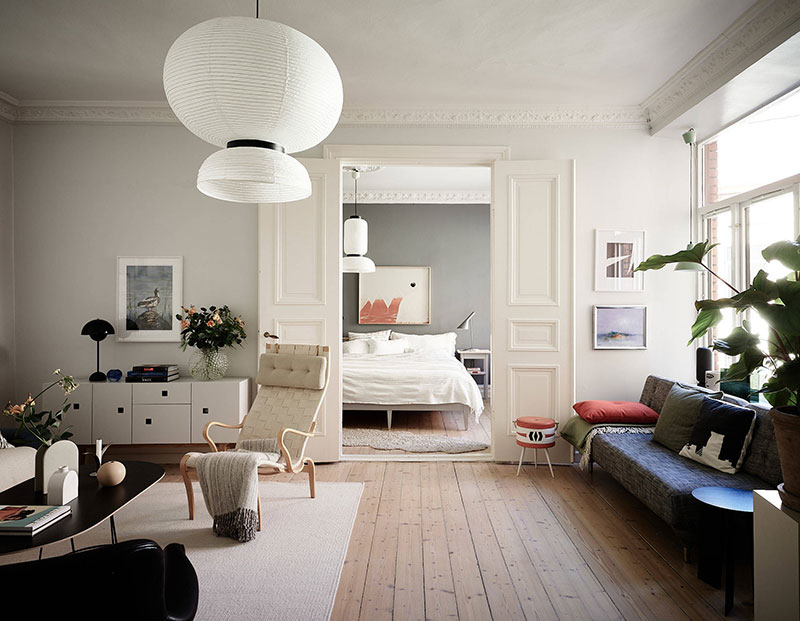 Small Garden Designs And Layouts, Stylish And Cozy Budget Apartment In 19th Century House In Goteborg 67 Sqm Photos Ideas Design