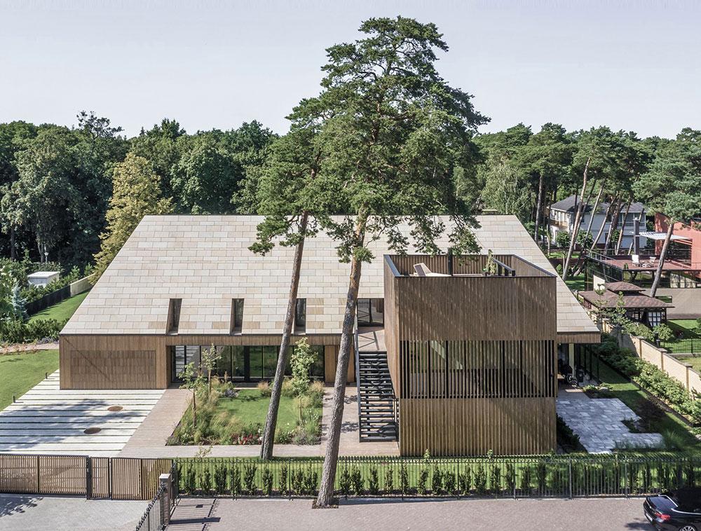Потрясающая современная вилла в сосновом лесу на берегу Балтийского моря