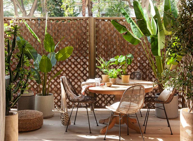 Собственная терраса, зелень и яркие акценты: городские джунгли в квартире в Барселоне (75 кв. м)