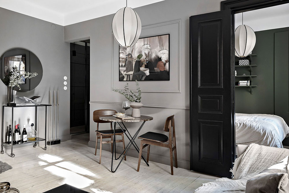 Small One Bedroom Apartment In Stylish Gray And Beige Tones In Sweden 38 Sqm Photos Ideas Design