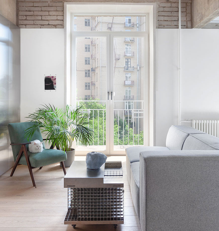 Brick Wall Loft Interior Design With Brick Wall