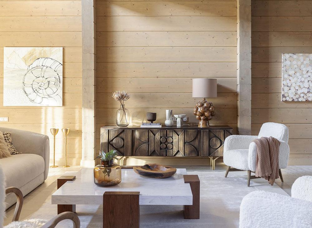 Изысканный деревянный дом дизайнера Анастасии Каменских в Подмосковье