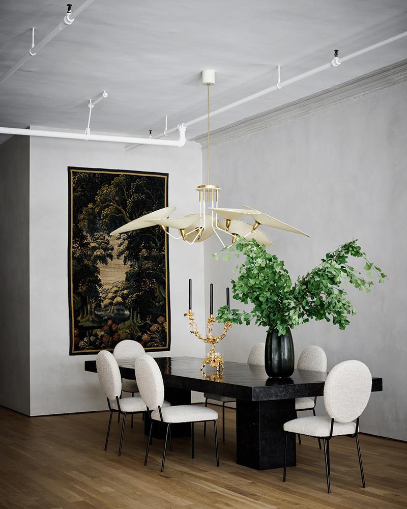 Элегантный современный интерьер в лофт-помещении в Нью-Йорке
