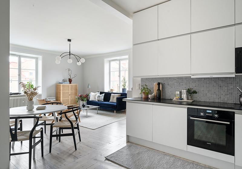 Светлый интерьер небольшой бюджетной квартиры в Стокгольме (47 кв. м)