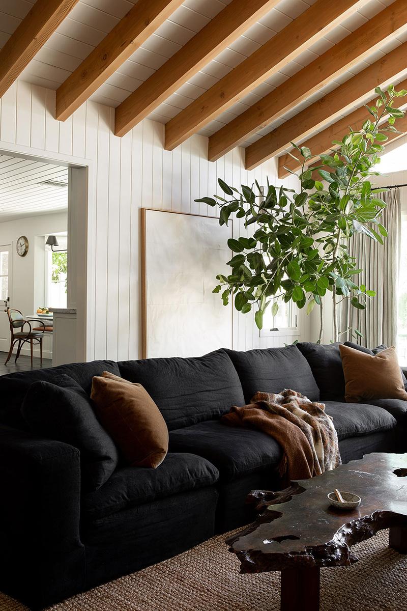 Современный дом в стиле рустик в пригороде Лос-Анджелеса