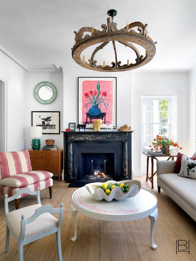 Дом в США с ретро стилистикой и яркими акцентами