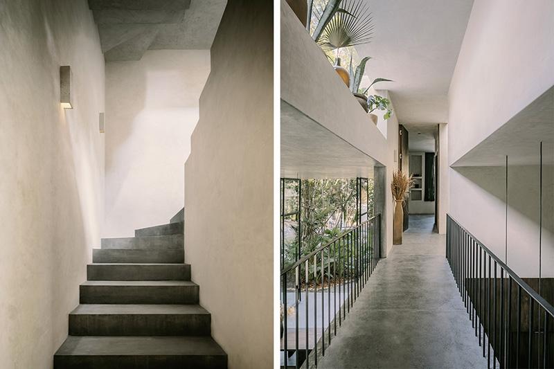 Экзотический минимализм: современная вилла с бассейном посреди джунглей в Мексике