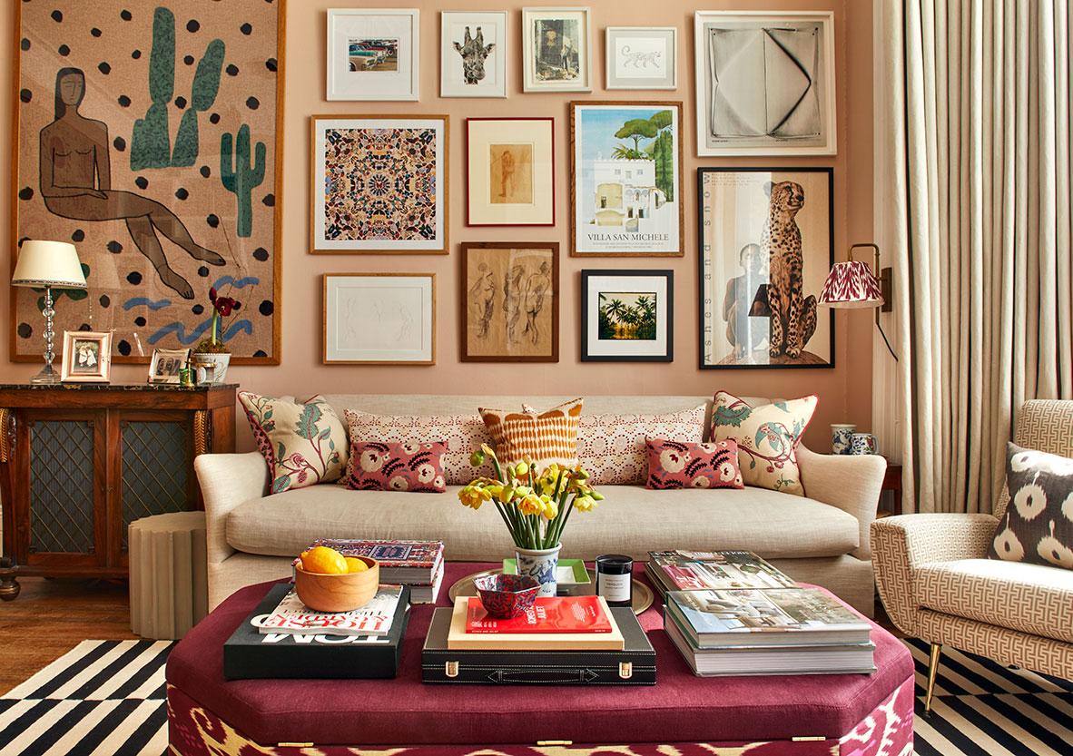 Феерия принтов и деталей в интерьер дома в Лондоне