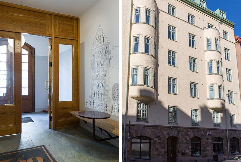 Маленькая элегантная квартира на чердаке в Стокгольме (40 кв. м)