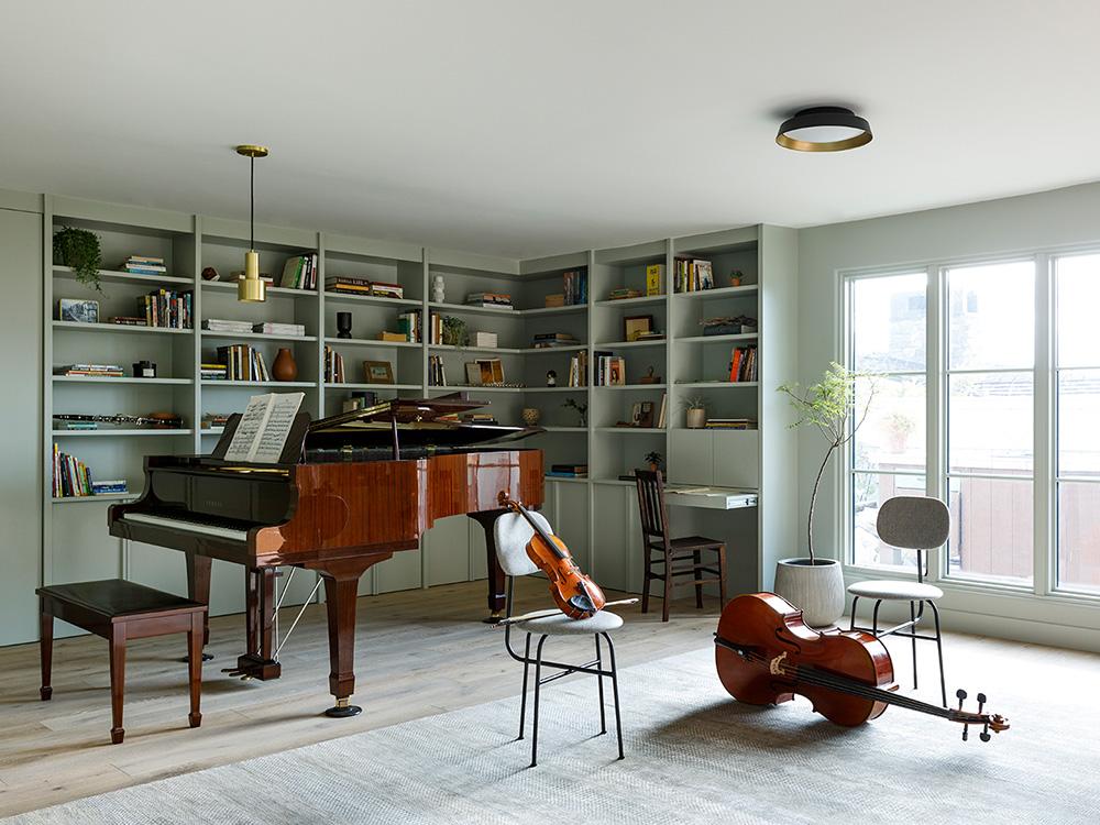 Светлый дом музыканта в Калифорнии