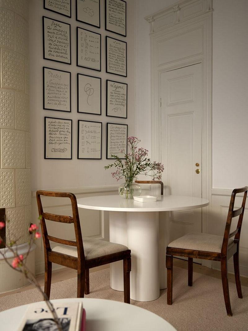Очень уютный и душевный интерьер в старом доме в Стокгольме