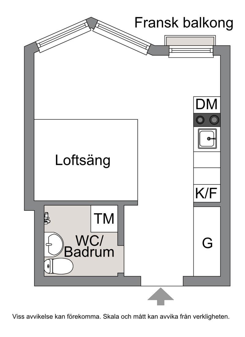 Отличный вариант для студента: микро-квартира на 22 кв. м