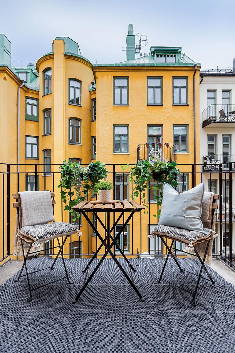 Приятный интерьер маленькой двушки в Швеции (32 кв. м)
