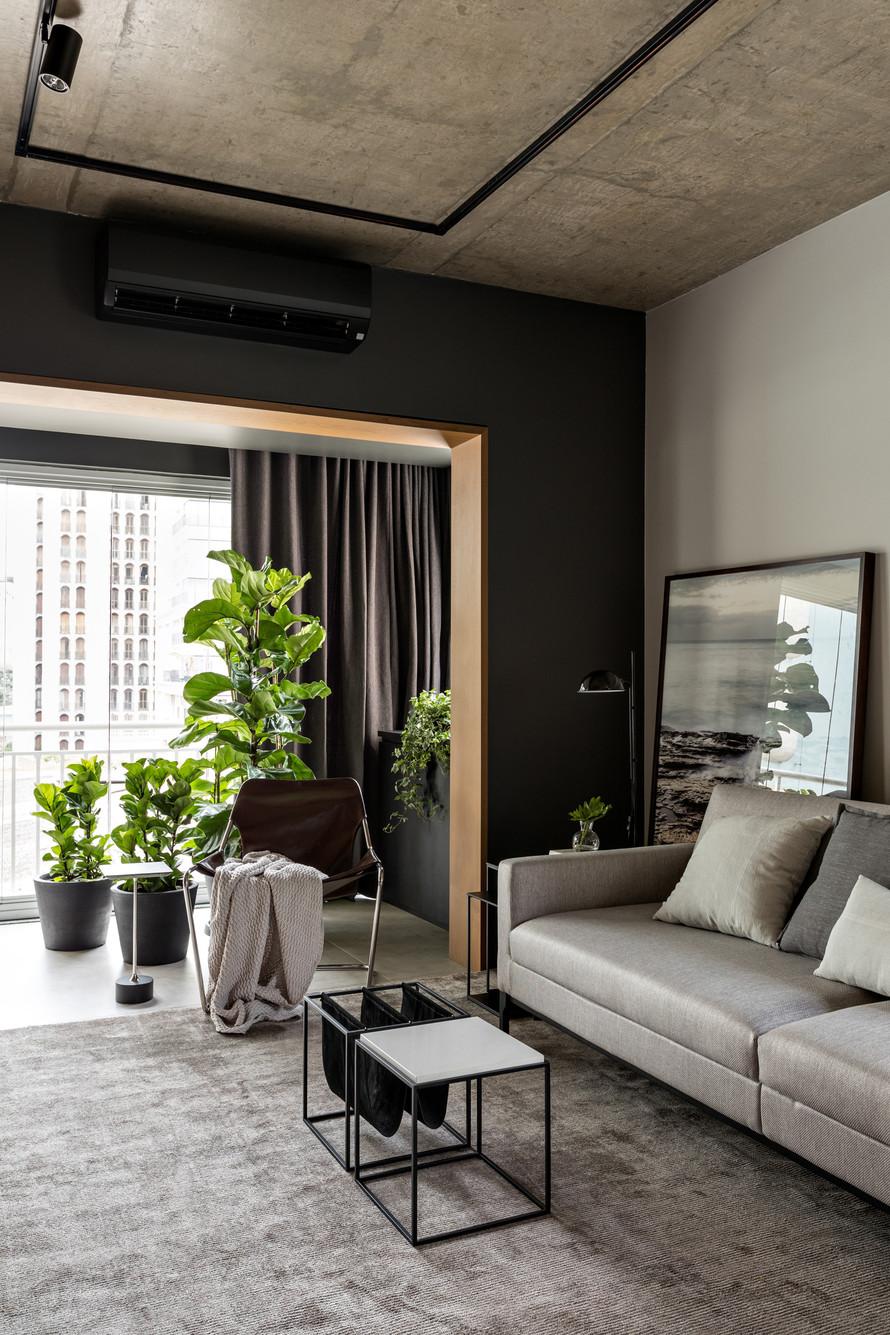 Строго, практично, стильно: апартаменты холостяка в Сан-Паулу (70 кв. м)