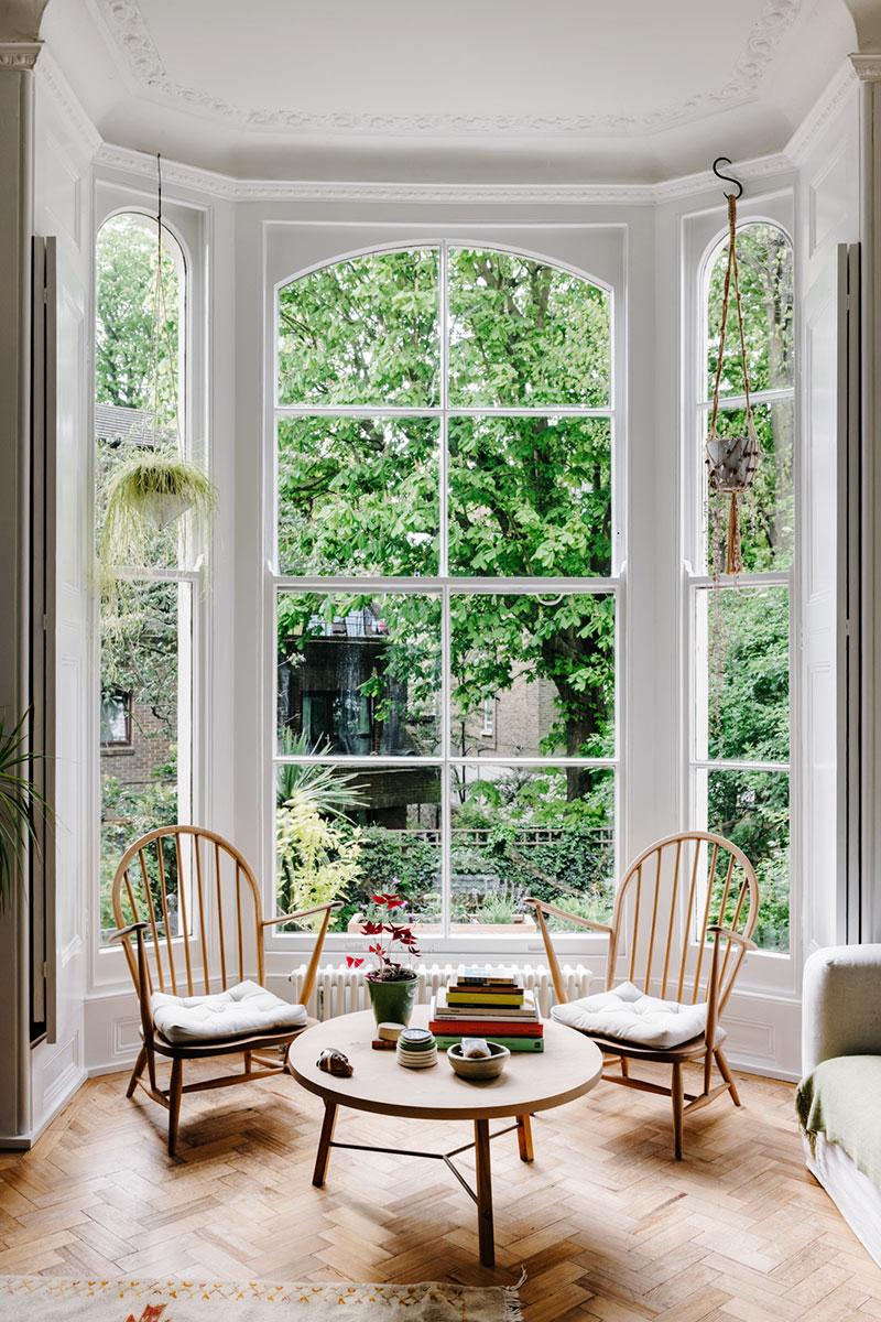 Апартаменты с роскошным окном в викторианском доме в Лондоне (55 кв. м)
