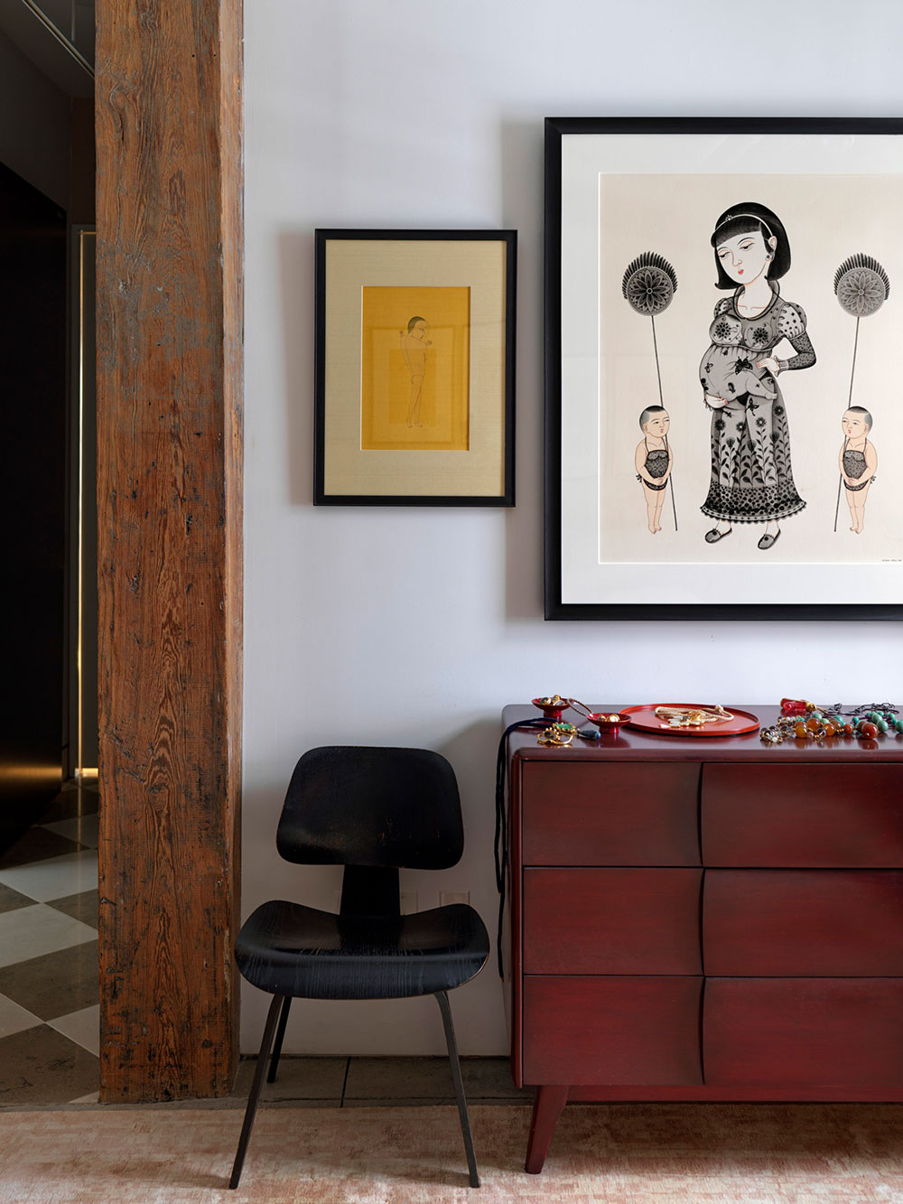 Лофт не всерьёз: яркая квартира создателей бренда ковров Fort Street в Нью-Йорке