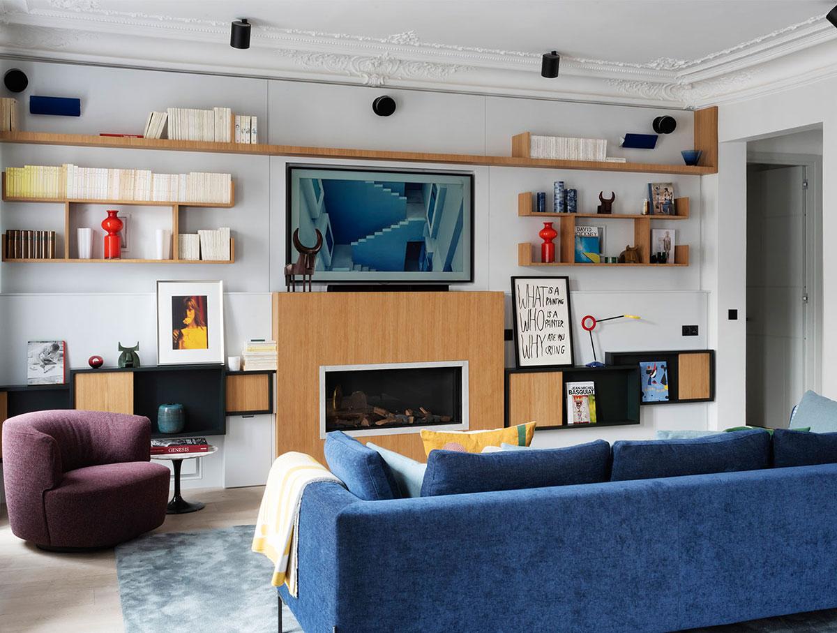 Искусство и яркие краски: необычные апартаменты в Париже