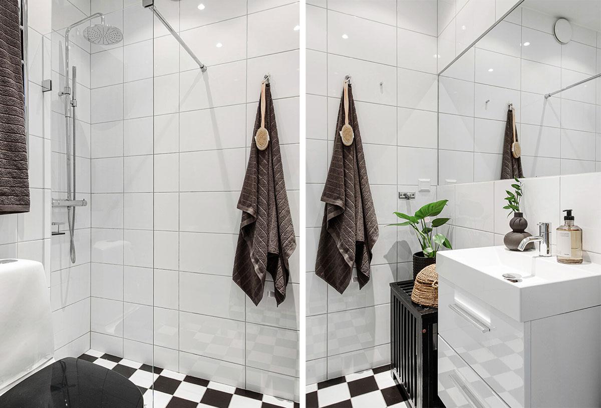 Мастер класс по декорированию белого пространства: квартира в Стокгольме (44 кв. м)