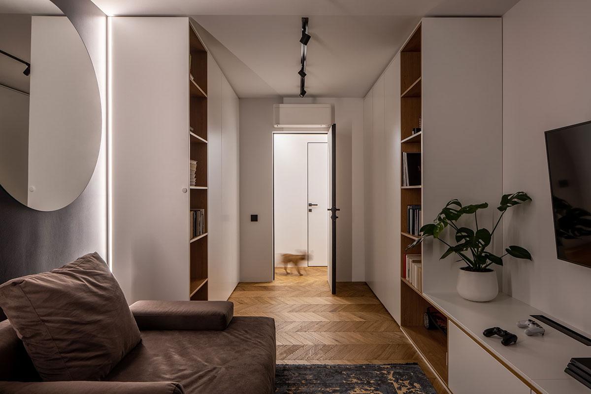 Стильная современная квартира с чёрной кухней для молодой семьи в Киеве (90 кв. м)