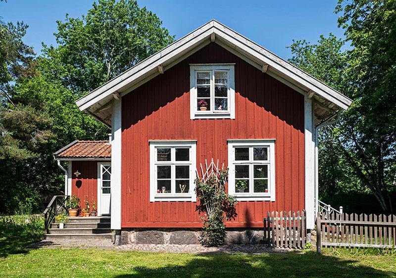 Прекрасное гнёздышко в здании бывшей деревенской телефонной станции в Швеции