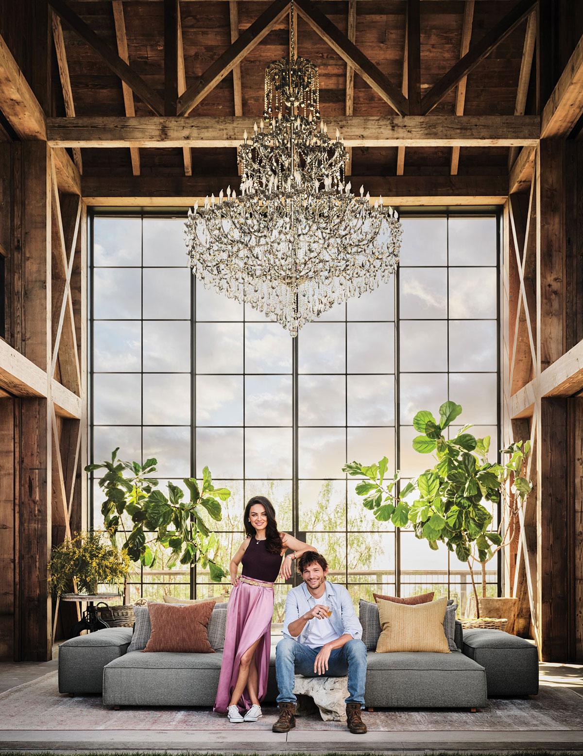 Роскошный фермерский дом Милы Кунис и Эштона Кутчера в Лос-Анджелесе