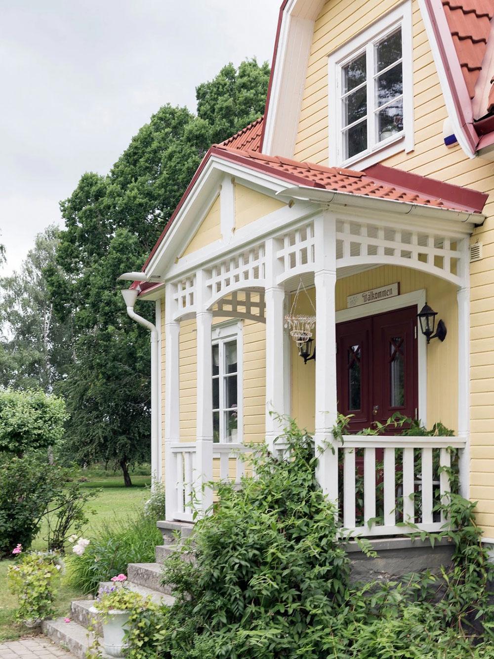 Цветочные мотивы и нежный декор: очаровательная дача 1920 года в Швеции