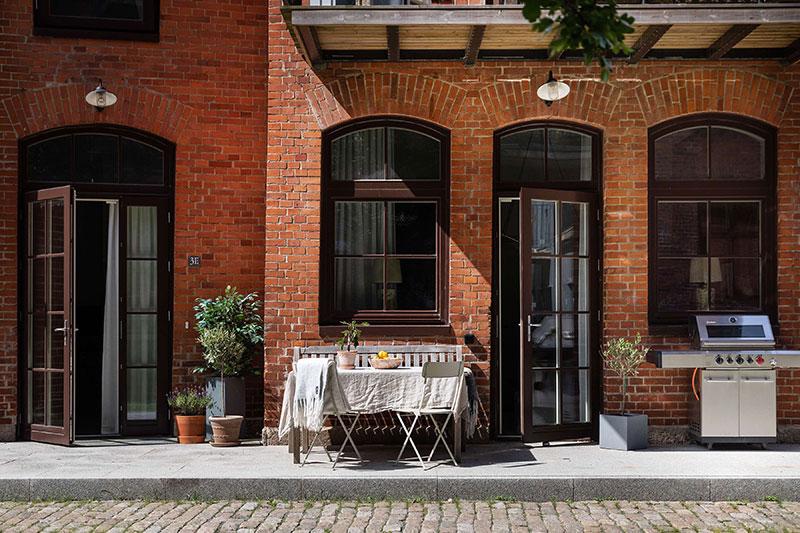 Таунхаус со стильными интерьерами в центре Гётеборга (88 кв. м)