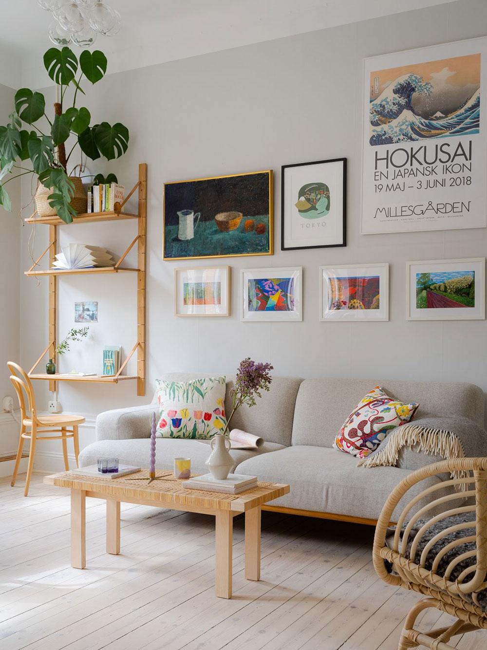 Небольшая квартира с ярким летним настроением в Стокгольме