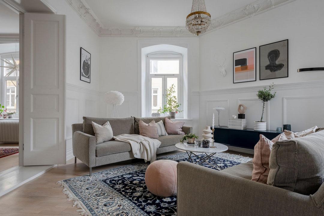 Большая и уютная квартира для семьия в старом доме в Гётеборге