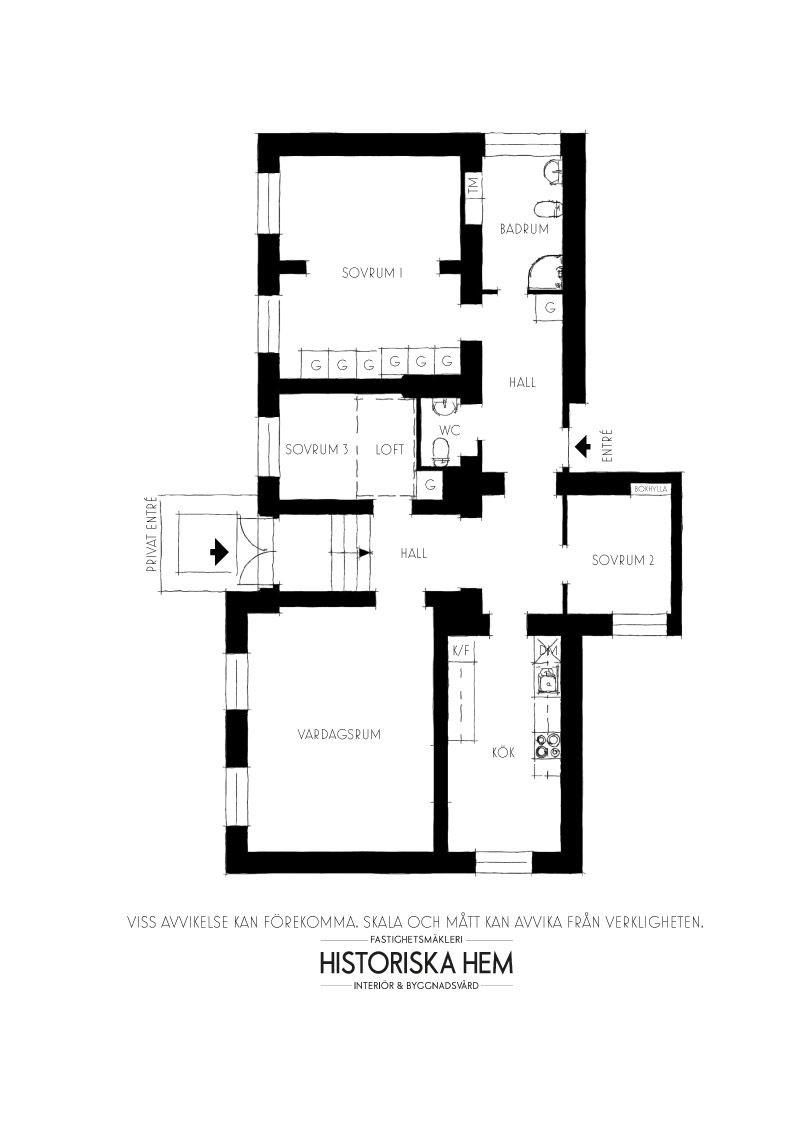 Скандинавская квартира с чёрным книжным шкафом (109 кв. м)