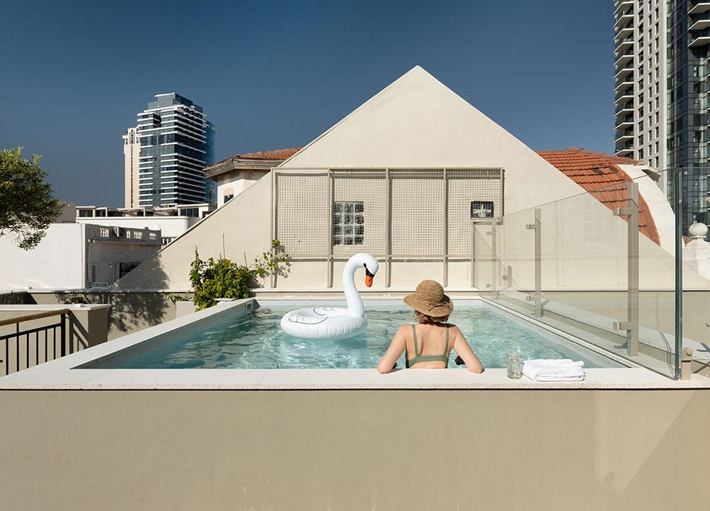 Уникальный таунхаус с уютным патио в Тель-Авиве