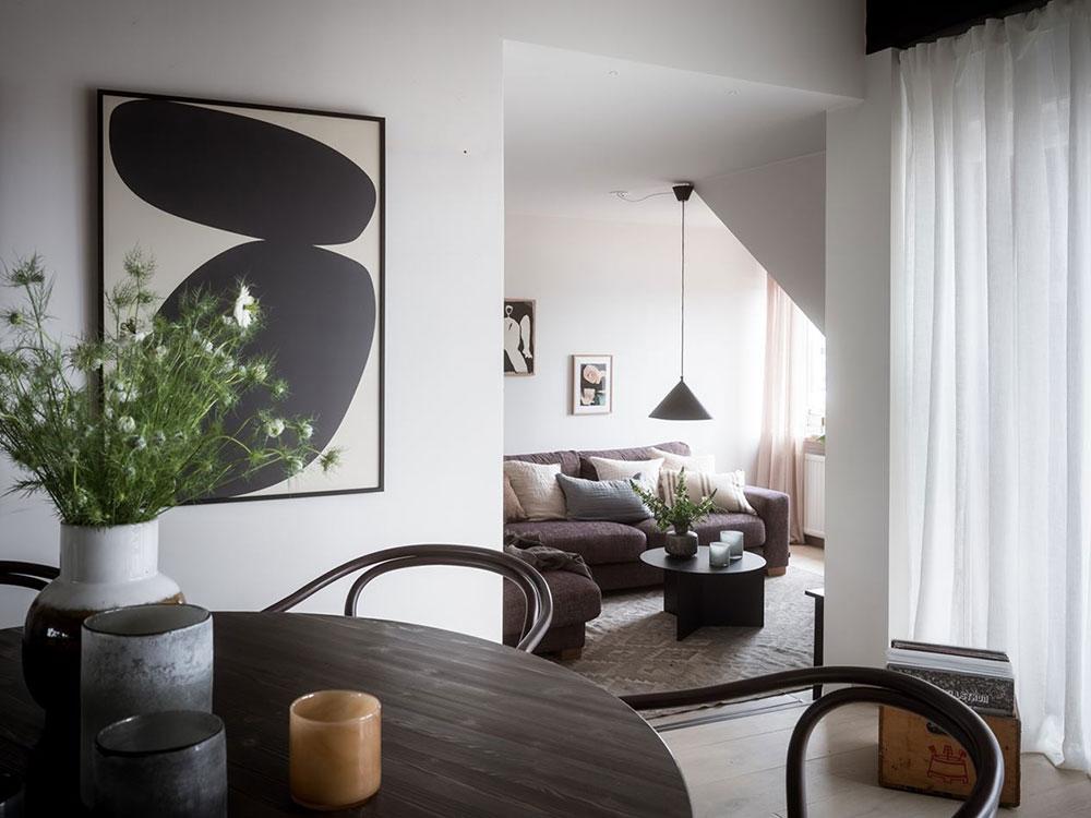 Просторная квартира на чердаке с окнами на две стороны в Гётеборге