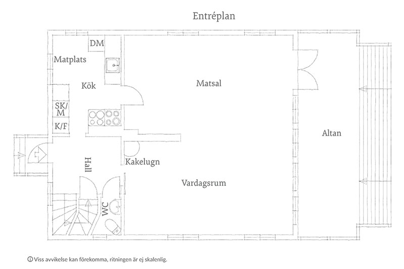 Прекрасная шведская дача с видовой террасой и чудесным садом