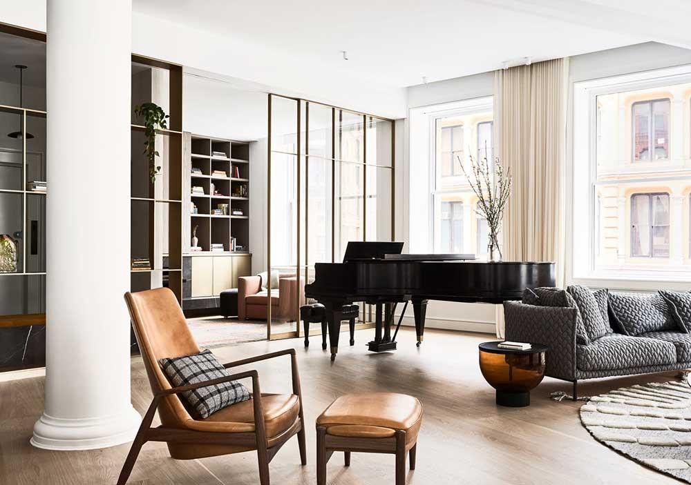 Светлый и изысканный интерьер известного скрипача в Нью-Йорке